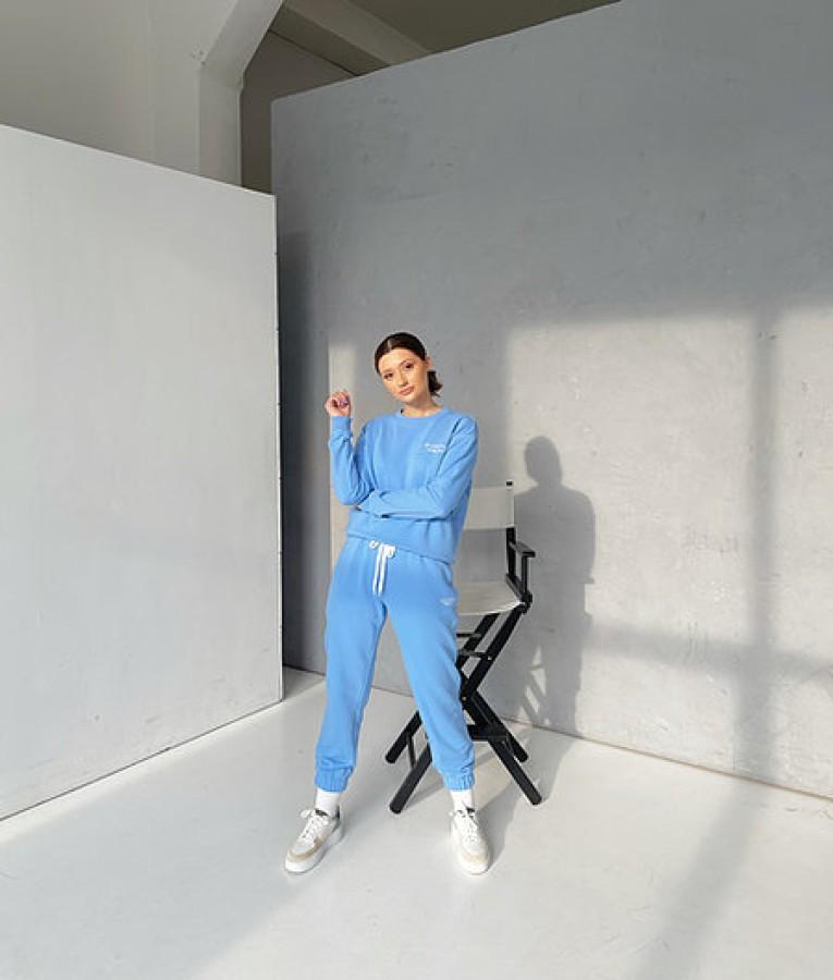 AGAPES WEAR.  baby blue more art kelnės